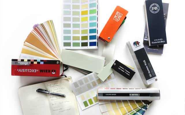 Schreibtisch Farbraumdesign