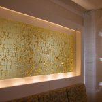 Blattgold Leuchtobjekt, Meridian Spa Alstertal, (2004)