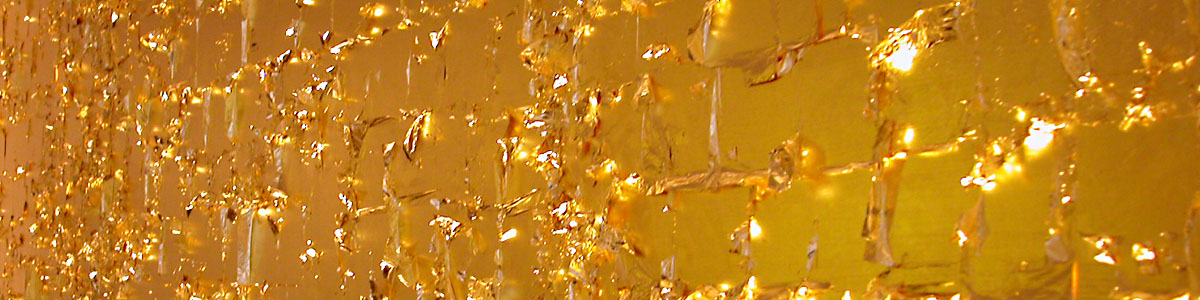 Blattgold Leuchtobjekt Meridian Spa, Alstertal/Hamburg