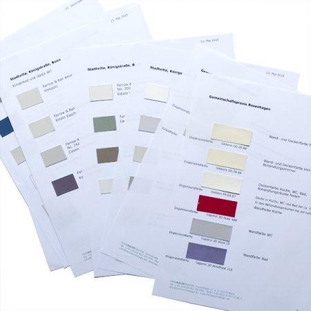 Farbraumdesign Farbkonzept
