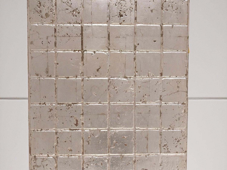 Badezimmergestaltung mit Blattmetall in Silber