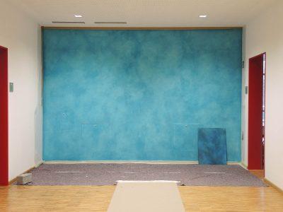Farbkonzept mit Lasur, Schule Ilmer Barg, Blau (Work in Progress)