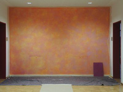 Farbkonzept mit Lasur, Schule Ilmer Barg, Pink (Work in Progress)