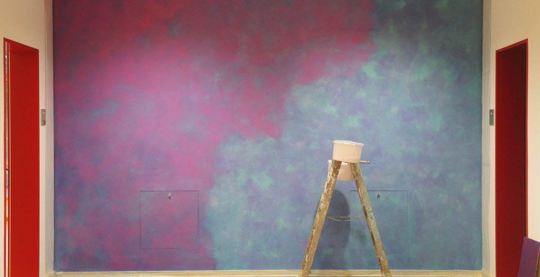 Farbkonzept mit Lasur, Schule Ilmer Barg, Violett (Work in Progress)