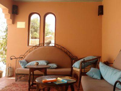 Tadelakt Marokko, Lounge im Außenbereich